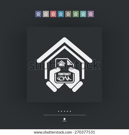 House contract icon - stock vector