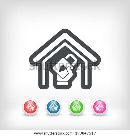 House defense - stock vector