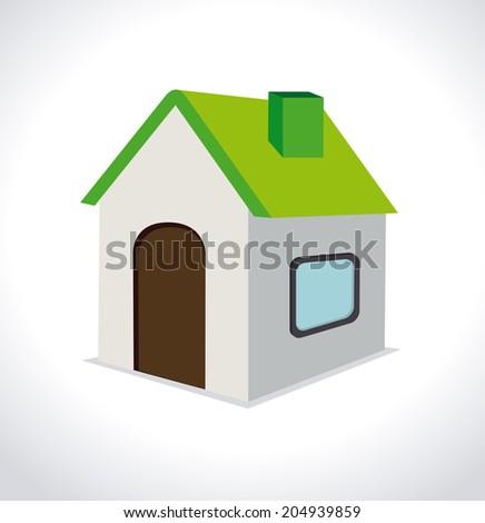 House design over white background, vector illustration - stock vector