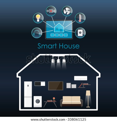 Smart Home Technology Icon Stock Vector 529367935 Shutterstock