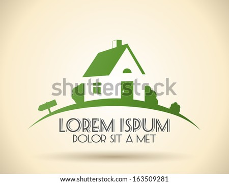 House design template realty theme icon building , Vector eps 10 - stock vector