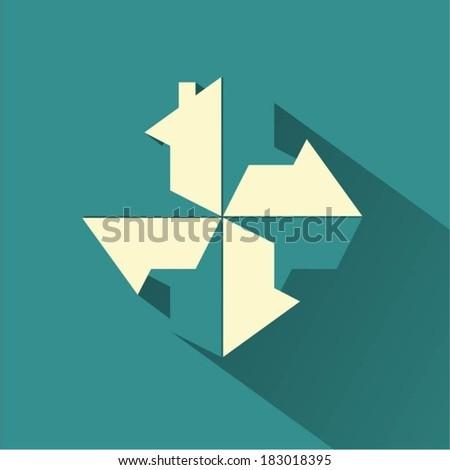 House design vector background  - stock vector