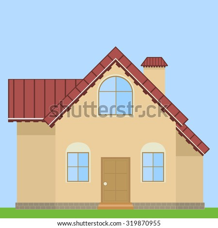 House design.Vector flat style.