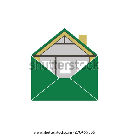 House Eco Green Building Envelope Energy Efficiency Weatherization Construction standards home insulation Thermal  Covering Environmentally friendly and save money and energy symbolic logo vector - stock vector