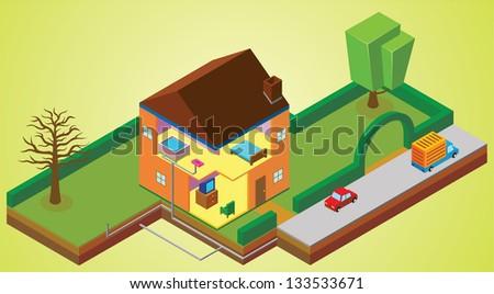 house environment - stock vector