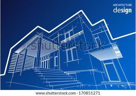 House facade - stock vector