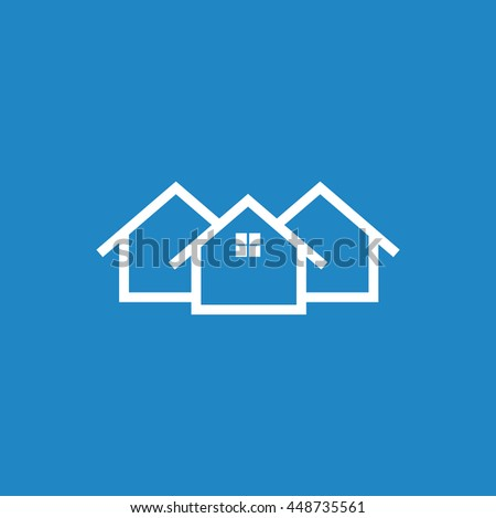 House flat vector illustration on blue background - stock vector