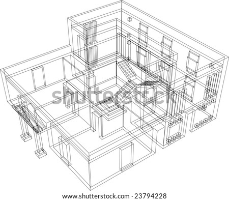House for one family. - stock vector