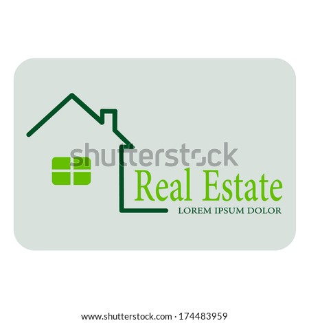 House for real estate, home, icon, vector.