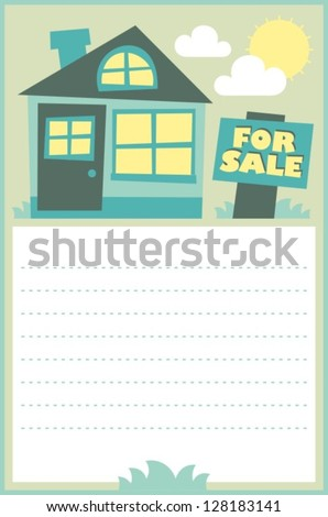 house for sale, theme for realtor - stock vector