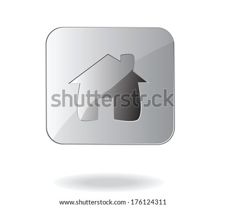 house glass icon vector - stock vector