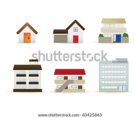 house graphics icons set - stock vector