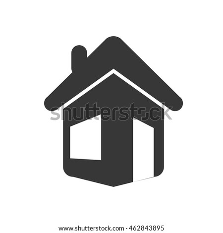 house home real estate residential icon. Isolated and flat illustration. Vector graphic