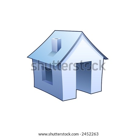 House - homepage symbol - stock vector