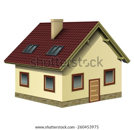 House icon, detailed vector illustration.