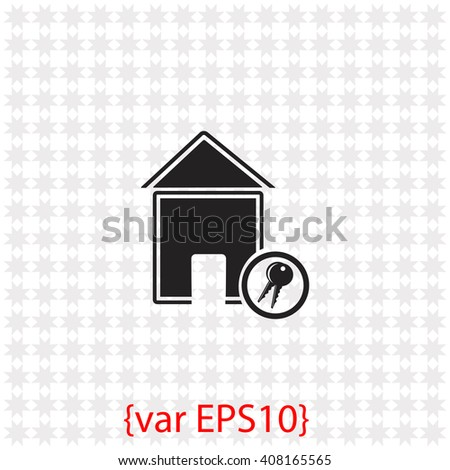 House icon. House vector. Simple icon isolated on gray background. - stock vector