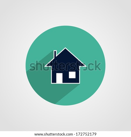 House Icon Isolated on White Background - stock vector