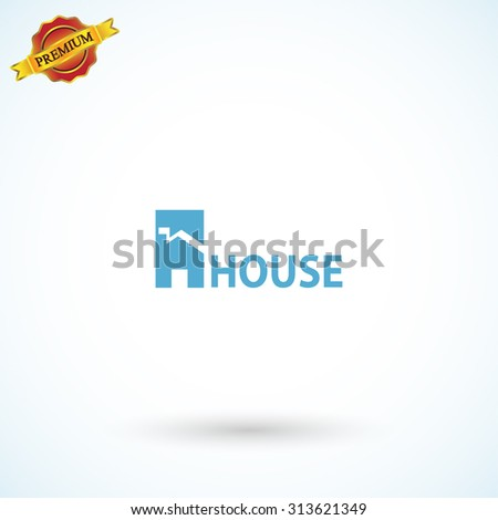 House icon. Sample text