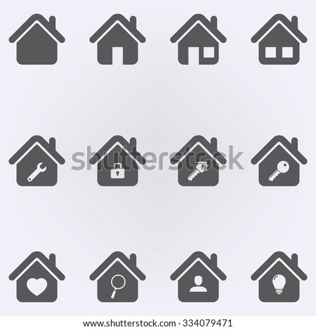 House Icon Set . Vector illustration