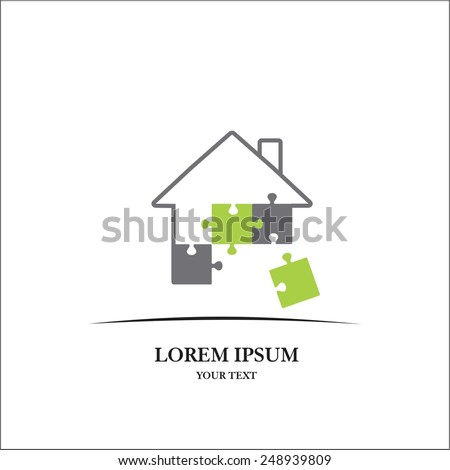 House icon template - stock vector