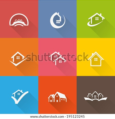 house icons  - stock vector