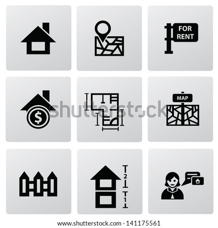 House icons,vector - stock vector