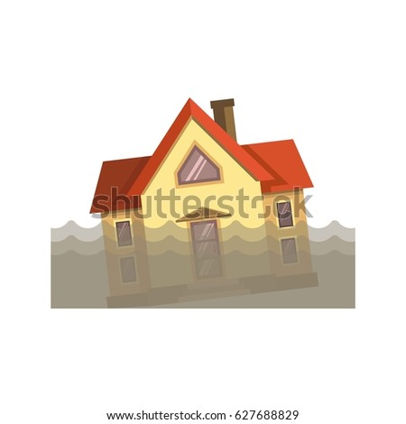 House in dirty water