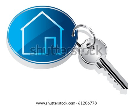 House key ring vector