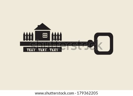 House key.  Vector. EPS-10 (non transparent elements,non gradient). - stock vector