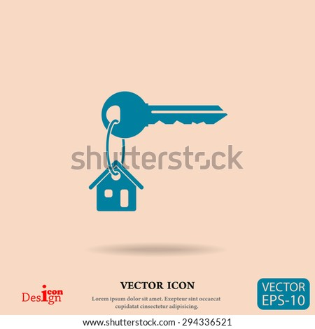 house key vector icon - stock vector