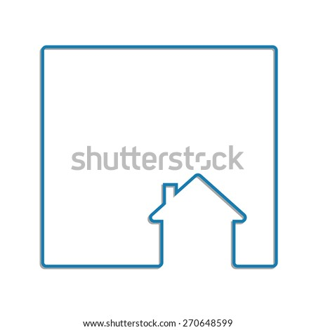 house line icon abstract background frame concept - stock vector