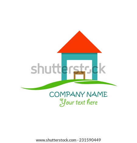 House logo design - stock vector