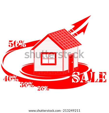 House logo sale - stock vector