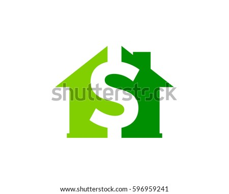 house money logo design element stock vector royalty free