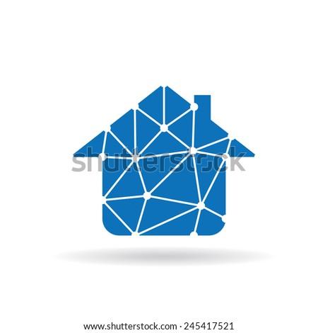 House network icon - stock vector