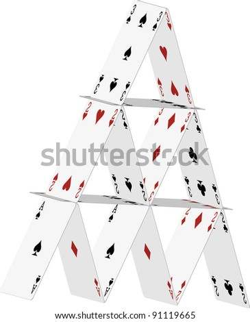 house of cards - stock vector