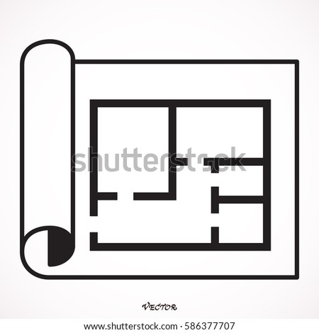 House Plan Icon Floor Plan Vector Stock Vector HD (Royalty Free ...