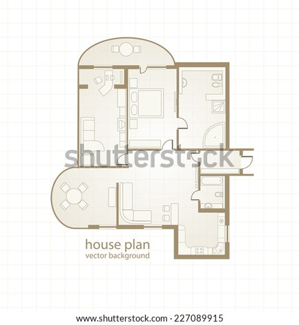 House Plan. Vector illustration - stock vector