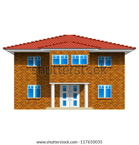 house, real estate icon - detailed vector illustration