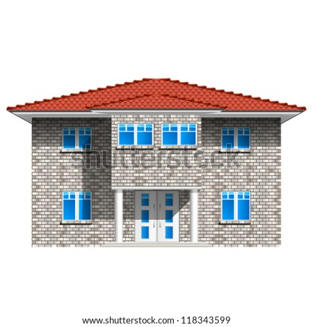house, real estate icon - vector illustration