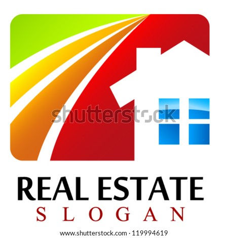 house / real estate sign - vector illustration - stock vector