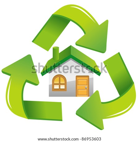 house recycle icon - stock vector
