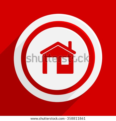 house red flat design modern vector icon for web and mobile app - stock vector