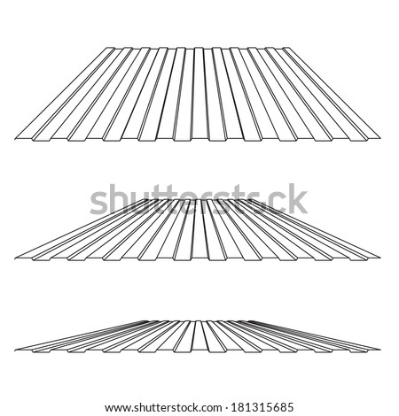 House Remodel: Corrugated Metal Roof (corrugated Metal Siding, Profiled  Sheeting), Vector
