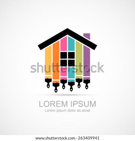 House renovation icon. - stock vector