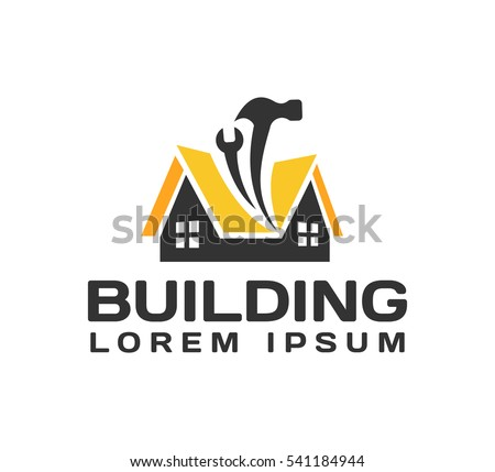 Genial House Repair Logo. House, Real Estate, Construction, Building Logo. House  Vector