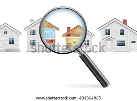 House Search Concept - stock vector
