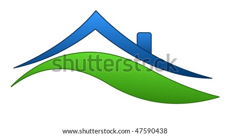 house sign - stock vector