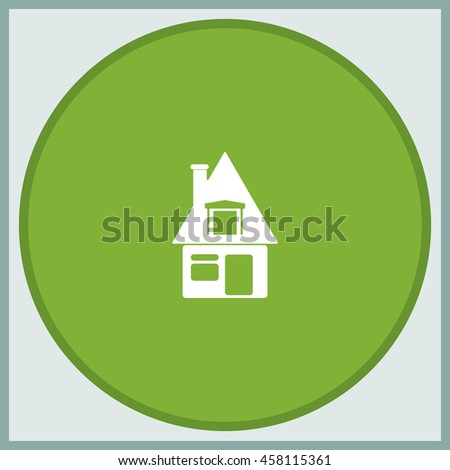 House sign. Flat icon. - stock vector