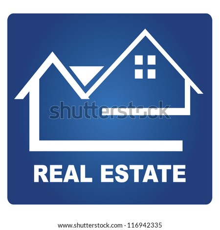 House signage, Real estate - stock vector
